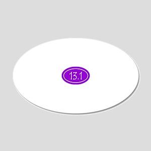Purple 13.1 Oval 20x12 Oval Wall Decal