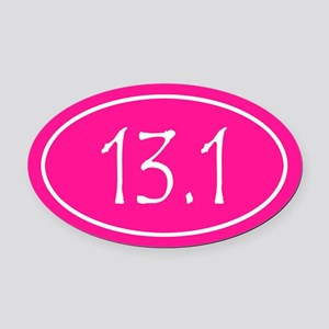 Pink 13.1 Oval Oval Car Magnet