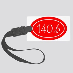 Red 140.6 Oval Large Luggage Tag