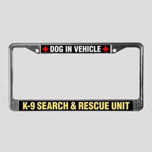 K-9 Search & Rescue License Plate Frame