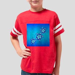 3 Blue Honu Turtles Youth Football Shirt