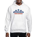 Fencing Team Captain Hooded Sweatshirt