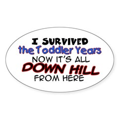 I Survived the Toddler Years Oval Decal
