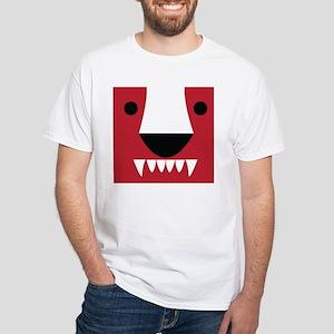 Honey Badger Mens White T-Shirt