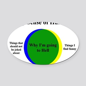 Going To Hell Oval Car Magnet