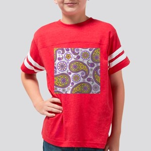 Seamless Lavendar-II-paisley- Youth Football Shirt