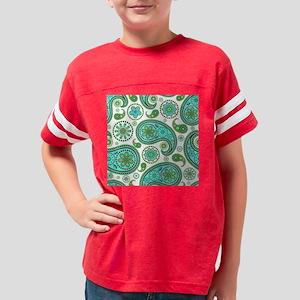 Seamless Turquoise -paisley-p Youth Football Shirt