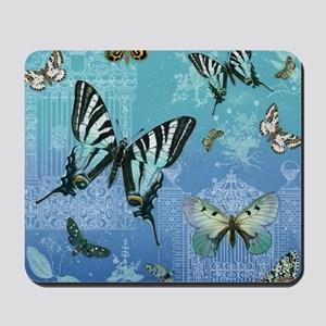 Rustic Garden Country Vintage Butterfly Mousepad