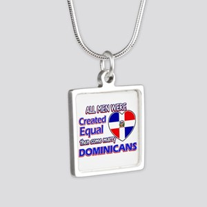 Dominican wife designs Silver Square Necklace