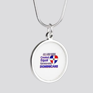 Dominican wife designs Silver Round Necklace