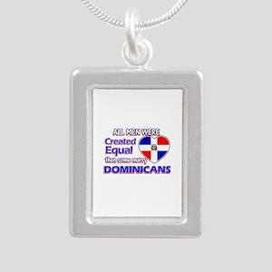 Dominican wife designs Silver Portrait Necklace