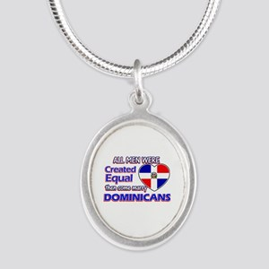 Dominican wife designs Silver Oval Necklace