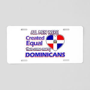 Dominican wife designs Aluminum License Plate