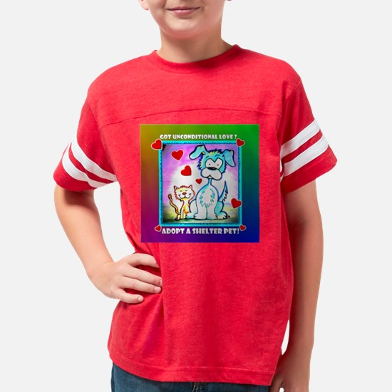 MCSPCA cartoon-PILLOW Youth Football Shirt