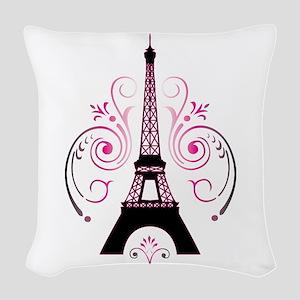 Eiffel Tower Gradient Swirl Woven Throw Pillow