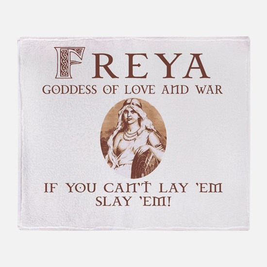 Freya Love and War Throw Blanket