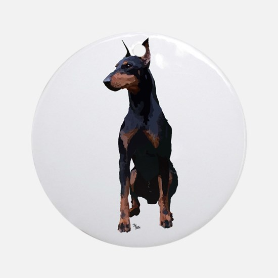 Mollys Manchester Terrier Ornament (Round)