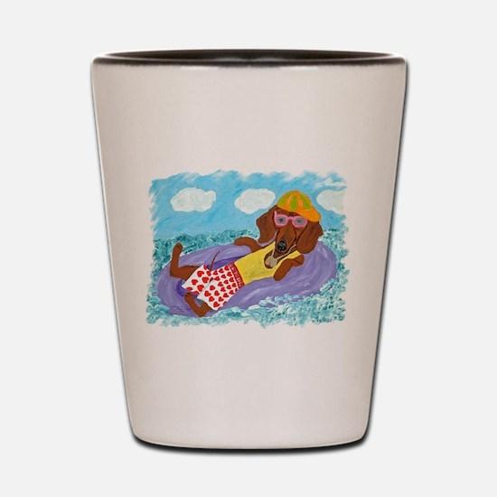 Dachshund Lazy Lifeguard Shot Glass