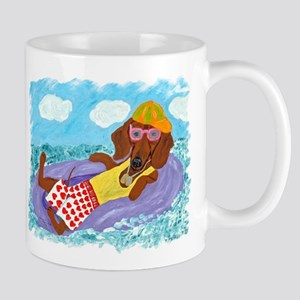 Dachshund Lazy Lifeguard Mug