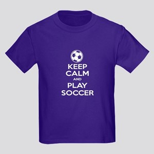 Keep Calm and Play Soccer - Ball Kids Dark T-Shirt