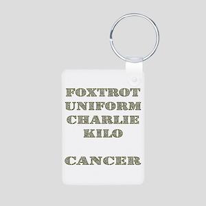 Foxtrot Uniform Charlie Kilo Cancer Aluminum Photo