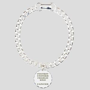 Foxtrot Uniform Charlie Kilo Cancer Charm Bracelet