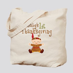 Baby Indian 1st Thanksgiving Tote Bag