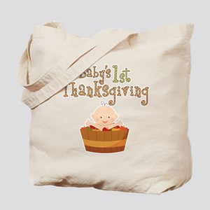 Babys 1st Thanksgiving Apples Tote Bag