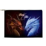 Dragon fire and ice Makeup Bags