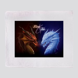 fire and ice Throw Blanket