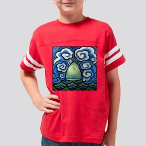 Safe in the Center with You P Youth Football Shirt