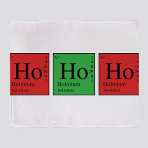 Chemistry Ho Ho Ho Throw Blanket
