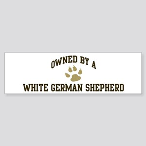 White German Shepherd: Owned Bumper Sticker