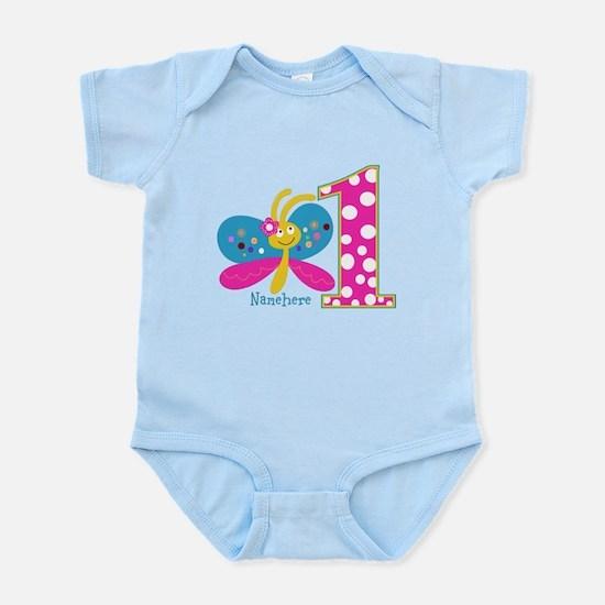 Butterfly First Birthday Infant Bodysuit
