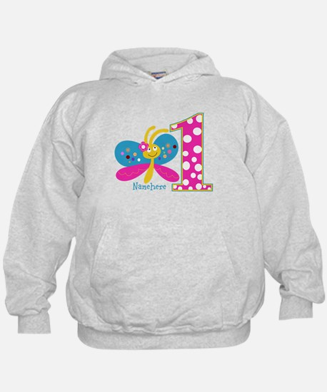 Butterfly First Birthday Hoodie
