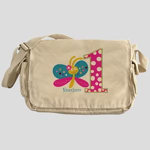 Butterfly First Birthday Messenger Bag