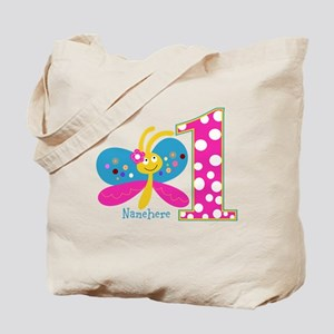 Butterfly First Birthday Tote Bag