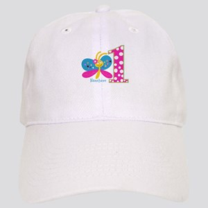 Butterfly First Birthday Cap