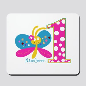 Butterfly First Birthday Mousepad