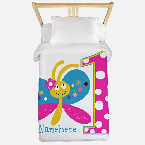 Butterfly First Birthday Twin Duvet