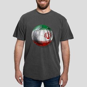 Iran Soccer Ball Mens Comfort Colors Shirt