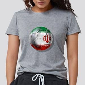 Iran Soccer Ball Womens Tri-blend T-Shirt