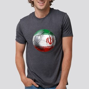 Iran Soccer Ball Mens Tri-blend T-Shirt