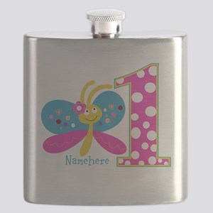 Butterfly First Birthday Flask