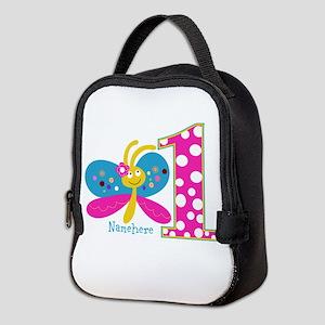 Butterfly First Birthday Neoprene Lunch Bag