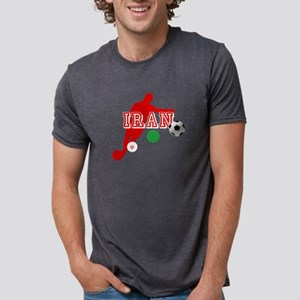 Iran Football Player Mens Tri-blend T-Shirt