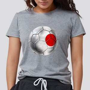 Japanese Football Womens Tri-blend T-Shirt