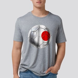 Japanese Football Mens Tri-blend T-Shirt