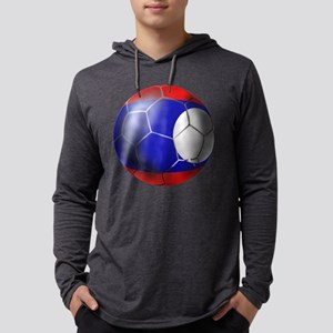Laos Soccer Ball Mens Hooded Shirt