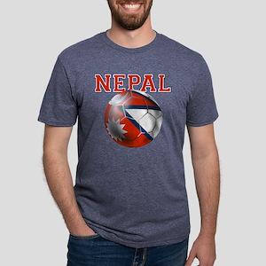 Nepal Football Mens Tri-blend T-Shirt